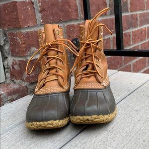 """L.L.Bean 8"""" Boots Sz 6 including shearling insoles"""